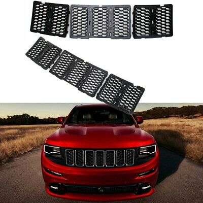 7pcs Front Grille Inserts Cover Kit  For Jeep Grand Cherokee 2014-2016(Black)