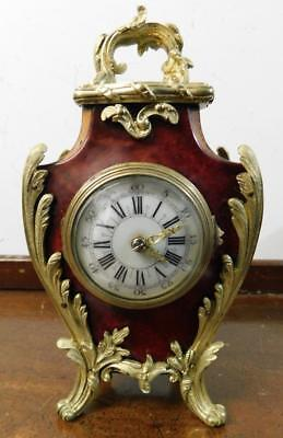 victorian french miniature boulle style mantel clock