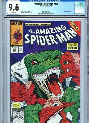 Amazing Spider-Man #313 CGC 9.6 Todd McFarlane Cover & Art Lizard App 1989