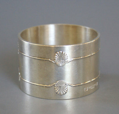 Christofle France Silverplate Napkin Ring Vendome Shell
