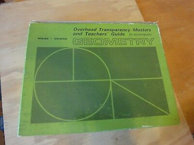 Vintage Overhead Projector Geometry Transparency masters & teachers guide moise
