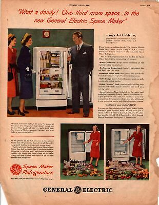 1948 Country Gentleman Magazine Advertisement GE Refrigerators 1 Page  A362