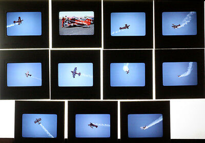 11 Original Vintage Kodachrome Pitts Special Aerobatics Slides