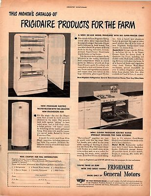1948 Country Gentleman Magazine Advertisement Frigidaire 1 Page A379