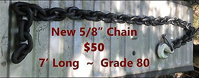 "5/8"" x 7' CM Columbus McKinnon Grade 80 Chain with Hook ~ Herc-Alloy 800 Series"