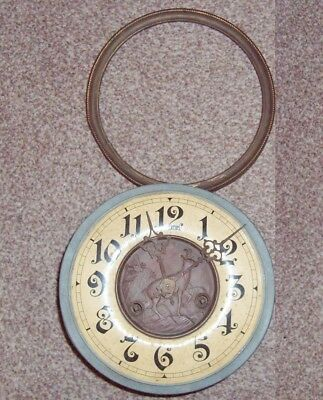 edwardian orgm vienna regulator wall clock mechanism bracket bezel spares stag