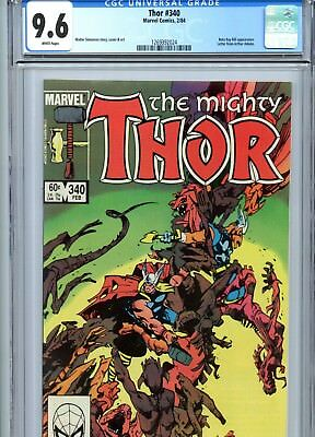 Thor #340 CGC 9.6 White Pages Beta Ray Bill App Marvel Comics 1984