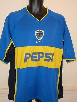 Boca Juniors Home Football Shirt 2002 large men's  #1274