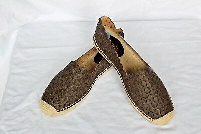8311c87261d44 NEW Brown MICHAEL KORS Perforated MK Logo ALEXIS ESPADRILLE Flats Shoes 6.5