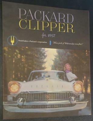 1957 Packard Clipper Large Brochure Sedan and Station Wagon Models, Original 57
