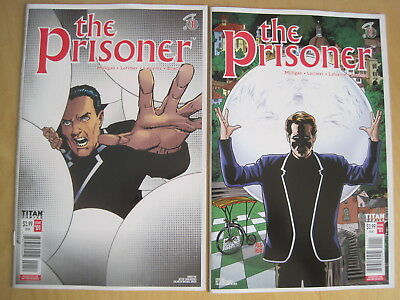 The PRISONER : SET of 2 issue 1 VARIANT COVERS. 2018, TITAN SERIES by MILLIGAN