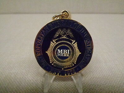 Central Florida Metro Bureau Of Investigation Challenge Coin Key Ring, Orlando