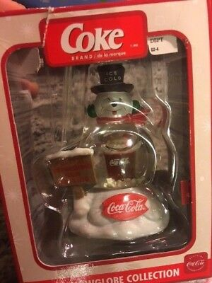 Coca Cola mini snow globe collection Snowman Great preowned condition