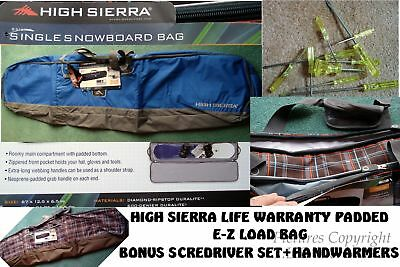 571bd705153 New High Sierra Snowboard Bag Combo W bonus Gifts-Padded-Life Warranty-