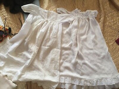 2 Vintage Baby Robes, Christening Etc, remake/upcycle/repurpose Fabrics +++