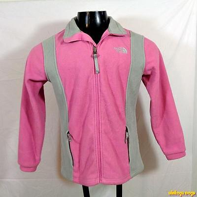 6dfaaec1f2bd THE NORTH FACE Fleece Nylon Jacket Girls Youth Size L Pink gray zippered