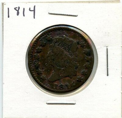 1814 Classic Head Large Cent!!!..starts @ 2.99