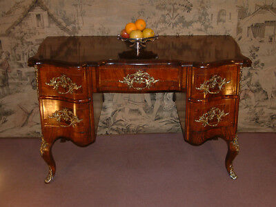 Maltese 18th Century Walnut Bureau Plat, knee hole desk c 1790