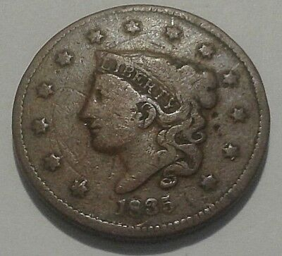 1835 Large Cent Coronet Head Cent Type Coins Good Details No Reserve