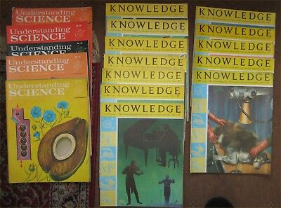 UNDERSTANDING SCIENCE and KNOWLEDGE periodicals from the 1960s