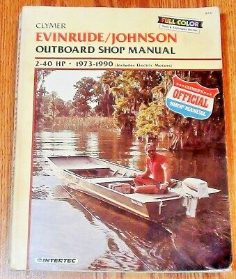 Clymer Outboard Shop Manual - 1973-1990 Evinrude & Johnson 2-40hp  FREE SHIPPING