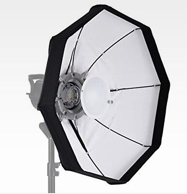 "Andoer 8 Pole 80cm/31.5"" Rubber White/Black Foldable Collapsible Beauty Dish for"
