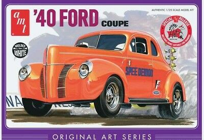 1940 Ford Coupe 1/25 scale skill 2 AMT plastic model kit#730