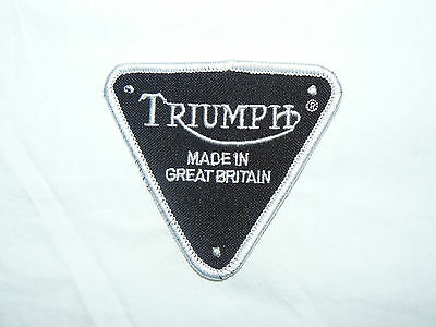 Triumph Made In Great Britain Iron on/ Sew on Patch Biker Motorcycle