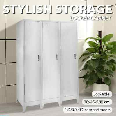 vidaXL Locker Cabinet Steel Storage Office Sport Changing Room Multi Choice