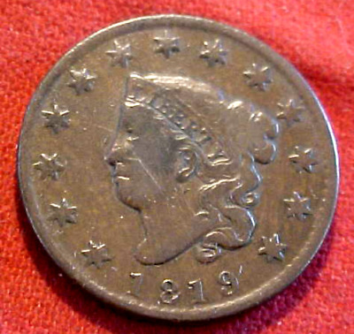 1819 Large Cent.......................min. Bid .01 & No Reserve!