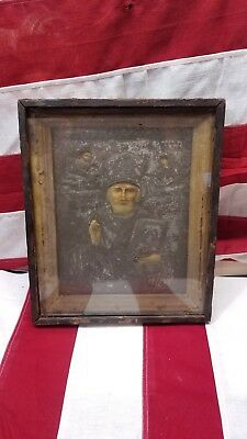 A Russian Wood Icon Of St. Nicholas, Early 18Th Ce Framed Icon Very Old Rare