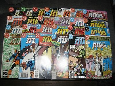 (O102) NEW TEEN TITANS (1980) comic book (LOT OF 24) ranging from # 50- 87