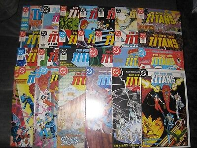 (O98) NEW TEEN TITANS (1984) comic book (LOT OF 26) ranging from # 1- 43