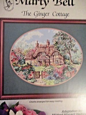 Lovely Marty Bell THE GINGER  COTTAGE Cross Stitch Pattern