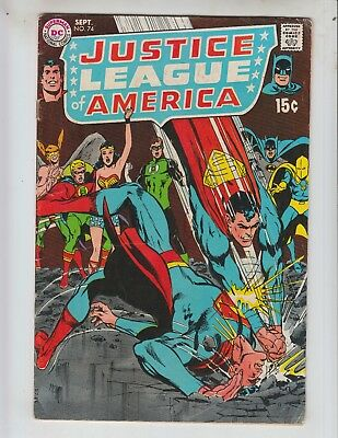 Justice League of America 74 VGF (5.0) 9/69 Black Canary Joins! Neal Adams Cover