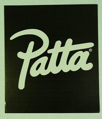 Patta Clothing Black & White Square Promotional Sticker