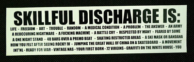 Skillful Discharge White Rectangular Promotional Sticker