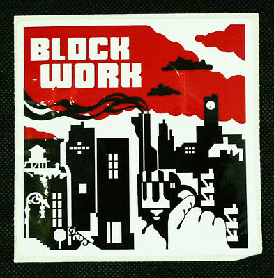 Blockwork NYC Clothing Mean Streets Movie inspired Square Promotional Sticker