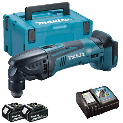 Makita DTM50Z LXT 18V Oscillating Multitool + 2 x 4ah Batteries, Charger & Case