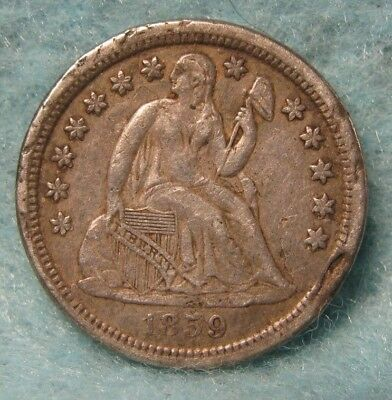 1859-O Seated Liberty Silver Dime XF Details * US Coin *