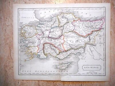 ANTIQUE HAND COLOURED MAP OF THE CAUCASUS REGION c 1820. ARMENIA, AZERBAIJAN,