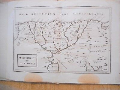 Antique Map Of Egypt And The Nile Delta. 1789. Geographia Antiqua