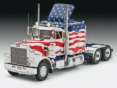 Marmon Conventional Stars/Stripes Semi Truck 1/25 scale skill 5 Revell kit#7429