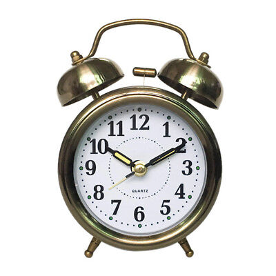 Round Twin Bell Loud Alarm Clock with Stereoscopic Dial, Battery Operated