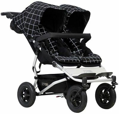 Mountain Buggy DUET V3 BUGGY GRID Newborn Baby Infant Carrier Safety BN
