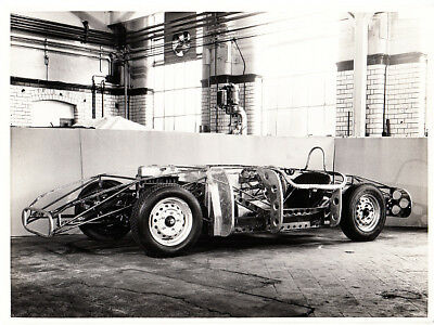 Mg  Special Bonneville Salt Flat Rolling Chassis With Frame On Period Photo