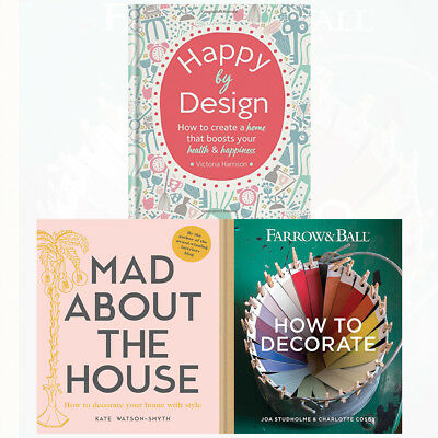 Happy by Design,Mad about the House,Farrow&Ball Howto Decorate 3books collection