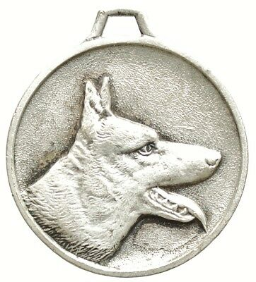 Vintage Silver Plate Dog Medal The Belgian Malinois