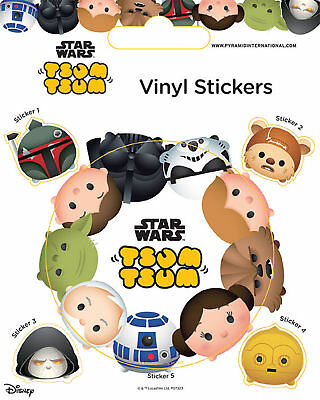 Star Wars - Tsum Tsum - Stickerset Set 5 Sticker Aufkleber - ca. 10x12,5 cm