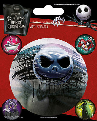 Nightmare Before Christmas - Stickerset Set 5 Sticker Aufkleber - ca. 10x12,5 cm